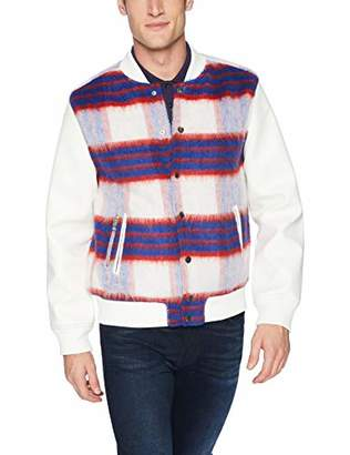 GUESS Men's Long Sleeve Marmont Check Jacket