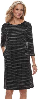 Croft & Barrow Women's Print Ponte Sheath Dress