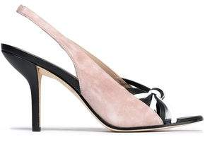 Diane von Furstenberg Knotted Leather And Suede Sandals