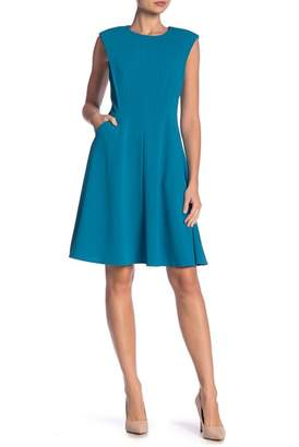 Maggy London Cap Sleeve Fit & Flare Dress