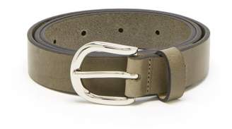 Isabel Marant Zap Skinny Leather Belt - Womens - Khaki