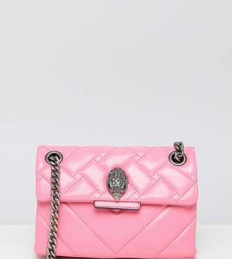 Kurt Geiger London Mini Kensington pink leather chevron cross body bag