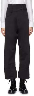 YAJUN Extended waist roll cuff pants
