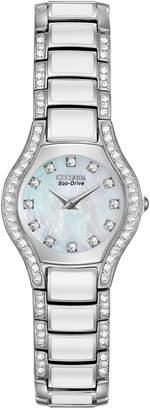Citizen 22mm Eco-Drive Bracelet Watch w/ Crystals