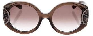 Salvatore Ferragamo Crystal-Embellished Oversize Sunglasses
