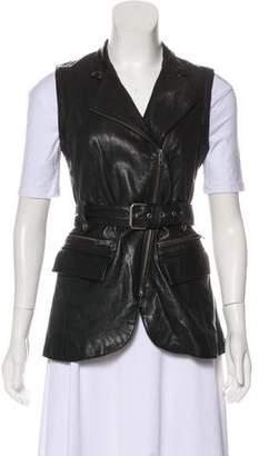 Rachel Zoe Zip-Up Leather Vest
