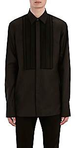 Barneys New York Burberry X Men's Macramé-Trimmed Cotton Tuxedo Shirt - Black