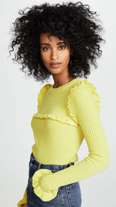 See by Chloe Fitted Ruffle Sweater
