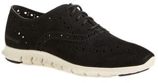 Women's Cole Haan 'Zerogrand' Perforated Wingtip $200 thestylecure.com