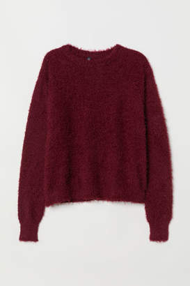 H&M Fluffy Sweater - Red