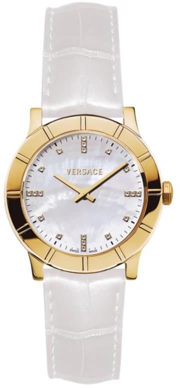 Versace Acron Ladies White Strap Watch