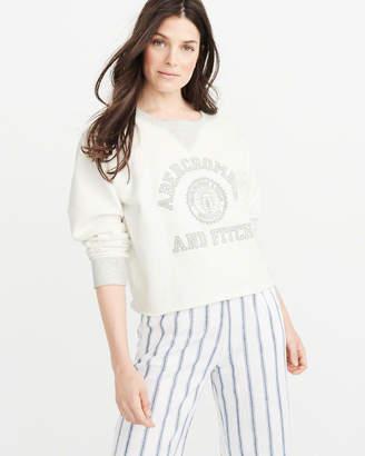 Abercrombie & Fitch Varsity Logo Sweatshirt
