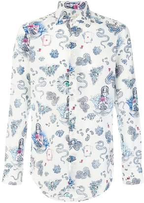 Etro paisley mixed print shirt