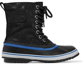 Sorel Lace-Up Rubber And Coated Woven Snow Boots