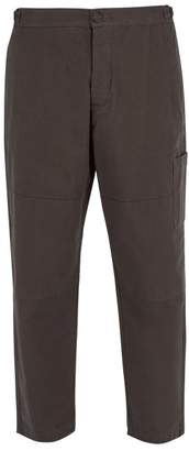 Oliver Spencer Judo Cotton Twill Pants - Mens - Grey Multi