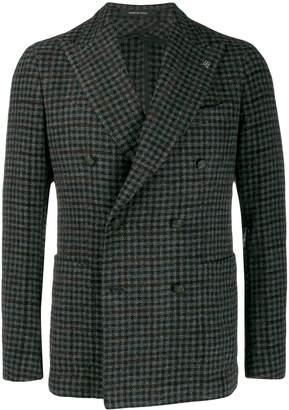 Tagliatore checked pattern blazer