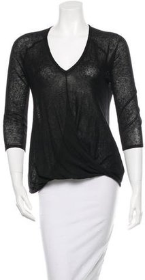 Brochu Walker Three-Quarter Sleeve Knit Top $75 thestylecure.com