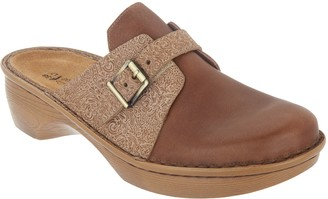Naot Footwear Leather Buckle Clogs - Avignon