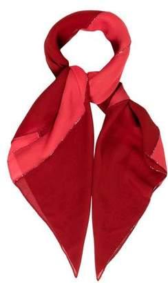 Hermes Embellished Silk Mousseline Scarf