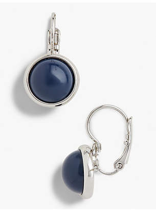Talbots Glass Leverback Drop Earrings