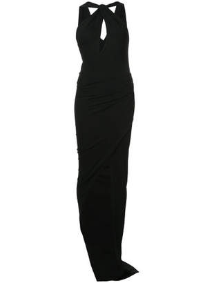 Keyhole Front Fitted Dress - Black - Size FR36