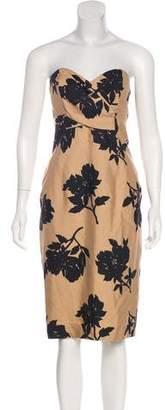 Michael Kors Strapless Silk Dress