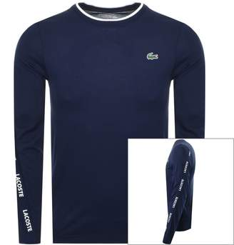 Lacoste Sport Long Sleeved T Shirt Navy