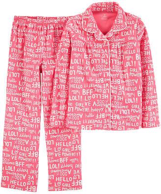 Carter's Button Long Sleeve Top & Pant 2-Pc. Pajama Set - Preschool Girls 2-pc. Pant Pajama Set Girls