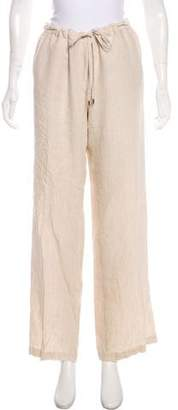 MICHAEL Michael Kors Linen Mid-Rise Pants