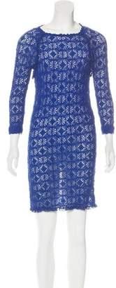 Isabel Marant Patterned Open Knit Dress