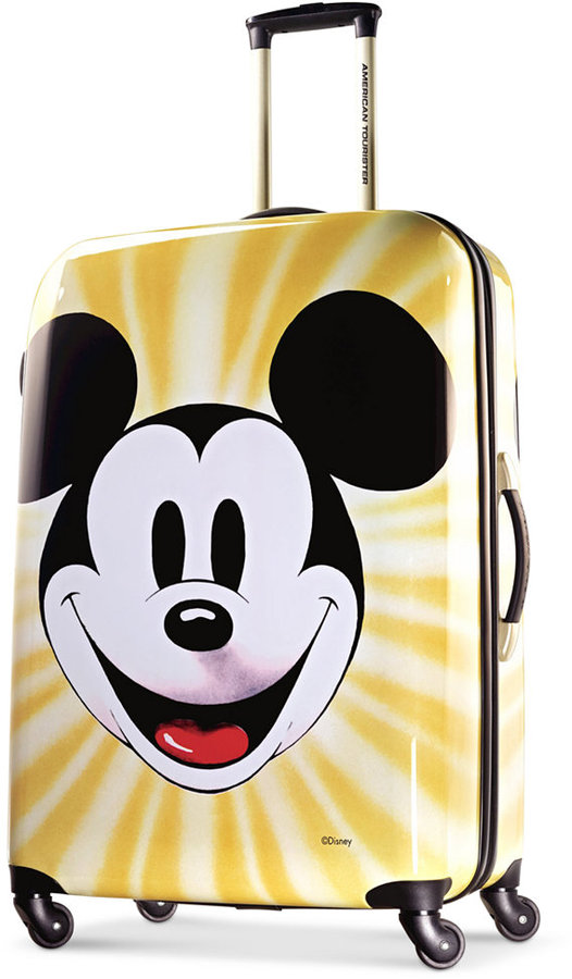 """DisneyDisney Mickey Mouse Face 28"""" Hardside Spinner Suitcase by American Tourister"""