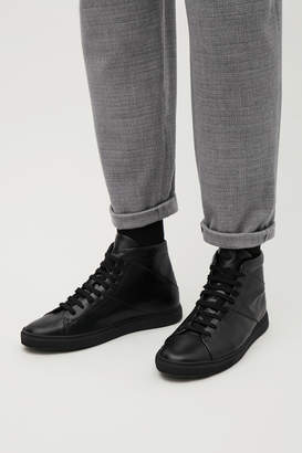 Cos HIGH-TOP LEATHER SNEAKERS