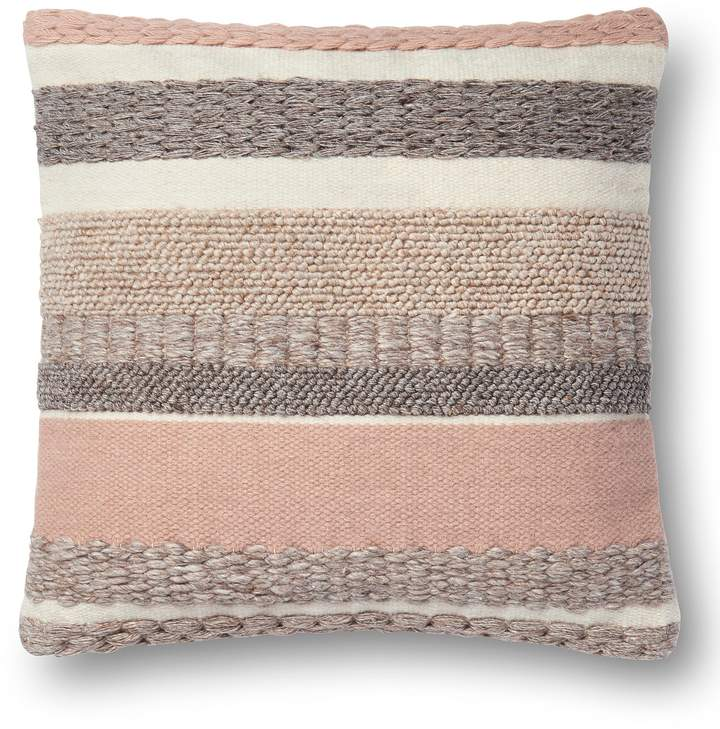 Magnolia Home by Joanna Gaines Delphine Striped Square Feather Pillow