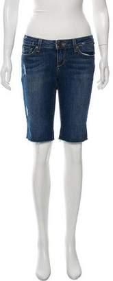 Paige Denim Low-Rise Denim Shorts