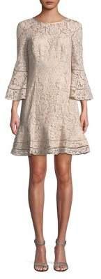 Eliza J Lace Flounce Dress
