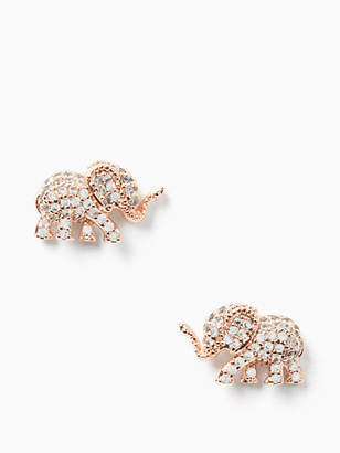Kate Spade Things We Love Pave Elephant Studs, Clear/Rose