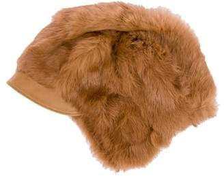 Gucci Fur Leather-Trimmed Hat