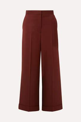 The Row Ane Wool Wide-leg Pants - Burgundy