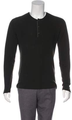 John Varvatos Wool Long Sleeve Henley