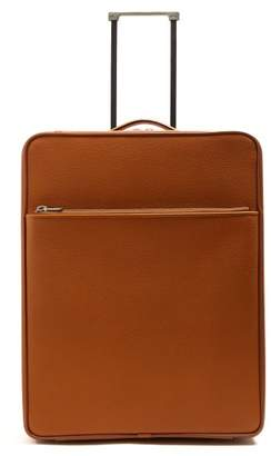 Valextra Leather Cabin Suitcase - Womens - Tan