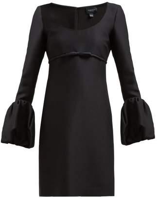 Giambattista Valli Scoop Neck Bubble Cuff Crepe Mini Dress - Womens - Black