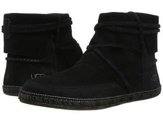 bc05e3497e2 UGG Black Soft Leather Women's Boots - ShopStyle