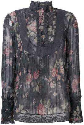 Zimmermann floral long-sleeve blouse