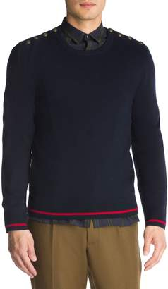 The Kooples Wool-Cashmere-Blend Sweater