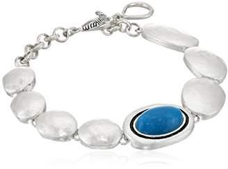 The Sak Women's Oval Stone Line Bracelet