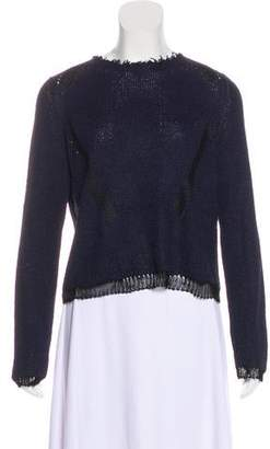 Celine Long Sleeve Keyhole Top