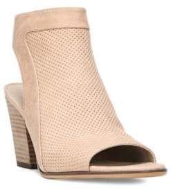 Naturalizer Yanni Textured Leather Stacked-Heel Sandals