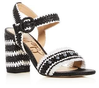 Sam Edelman Women's Olisa Raffia Block Heel Sandals