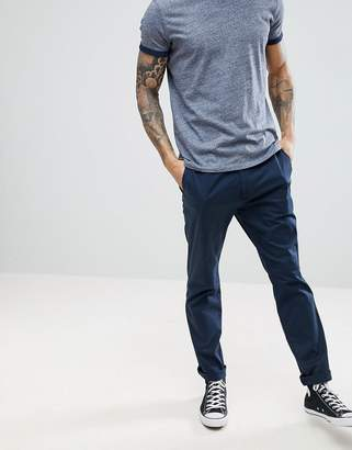 Hollister Slim Fit Chinos In Navy