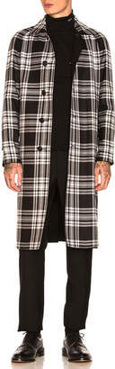 Burberry Hollins Gabardine Tartan Car Coat